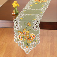 Exquisite Butterflies and Flowers Table Linens - 46659