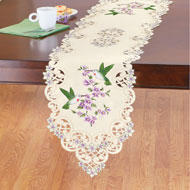 Hummingbird Garden Cutout Table Linens - 46661
