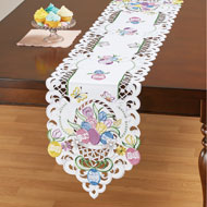Easter Eggs and Tulips Cutout Table Linens - 46677
