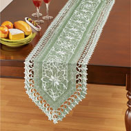 Lovely Floral Organza Table Linens - 46690