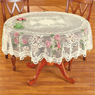 Elegant Floral Lace Tablecloth - 46691