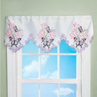 Lilies and Butterfly Cutout Window Valance - 46696