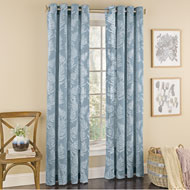Fossil Fern Pattern Semi-Sheer Window Curtain Panel - 46709