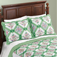 Diamond Flower Woven Patchwork Pillow Sham - 46711