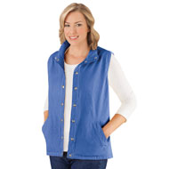 Snap Front and Cinch Back Sleeveless Vest - 46722