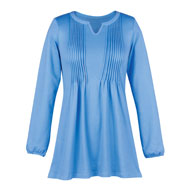 Knit Pintuck Tunic with Pleated Bodice - 46732