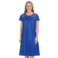 Lace Yoke Tricot Nightgown - 46764