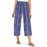 Multi-Color Paisley Printed Flowy Capri Pants - 46769