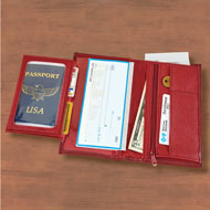 RFID Protected Leather Checkbook Wallet - 46772