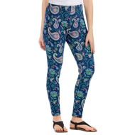 Paisley Floral All-Over Print Leggings - 46776
