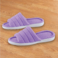 Soft Terry Slippers with Skid-Resistant Soles - 46783