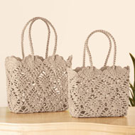 Crochet Style Everyday Tote Bag - 46789