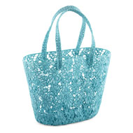 Floral Lace Double Shoulder Strap Tote Bag - 46790