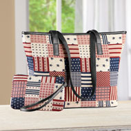 Patriotic Shoulder Bag and Matching Wristlet - 46791