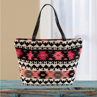 Southwest Aztec Pattern Tapestry Tote Bag - 46792