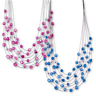 Illusion Multi-Strand Necklace - Set of 2 - 46798