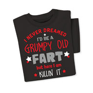 Grumpy Old Fart Funny Grandparent Tee Shirt - 46805