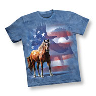 Patriotic Horse and Eagle Scene T-Shirt - 46820