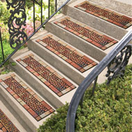Stone and Pebbles Rubber Stair Tread - 46824