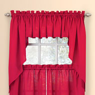 Solid Textured Swag Window Curtain Set - 46830