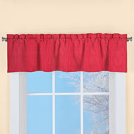 Solid Color Textured Window Valance