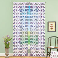 Butterfly Print Window Curtain Panel - 46842
