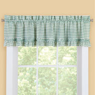 Ruffled Kitchen Curtain Valance Window Topper - 46857