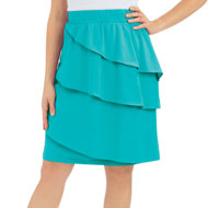 Cotton Ruffled Knee Length Skirt