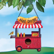 Hot Dog Stand Hanging Birdhouse - 46929