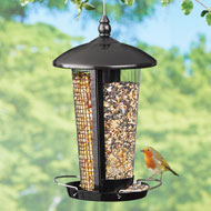 Double Sided Hanging Birdfeeder with Two Perches - 46938