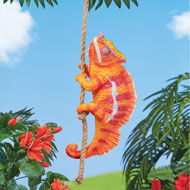 Climbing Chameleon with Rope Hanging Decoration - 46947