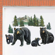 Bear Family Garage Door Magnets - Set of 4
