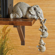 Elephant Sitter Figurines - Set of 3 - 46982