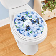 Lily Butterfly Garden Peel-and-Stick Toilet Decal - 47027