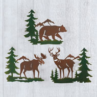 Northwoods Woodland Animals Wall Trio - Set of 3 - 47028