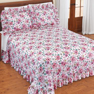 Emily Plisse Floral Ruffled Bedspread - 47034