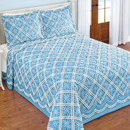 Mandy Chenille Tufted Diamond Pattern Bedspread - 47039