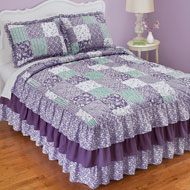 Classique Lavender Ruffled Patchwork Bedspread - 47056