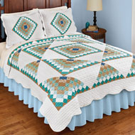 Brighton Geometric Diamond Scalloped Quilt - 47065