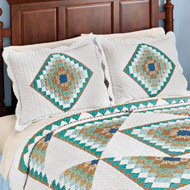 Brighton Geometric Diamond Scalloped Pillow Sham - 47070