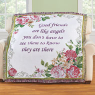 Friend Tapestry Throw with Scrolling Design - 47102