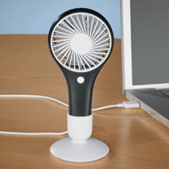 Rechargeable Mini Fan with Removable Base - 47131