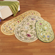 Oval Floral Butterfly Accent Rug - 47135