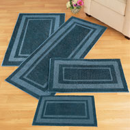 Plush Two-Toned Double Border Tufted Rug