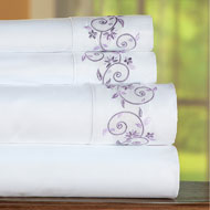 Embroidered Scroll Trim Sheet Set - 47139