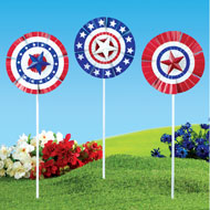 Patriotic Bunting Spinners - Set of 3 - 47162