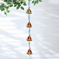 Sailboat Metal Hanging Rain Catcher Chain - 47168