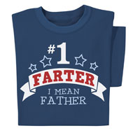 No. 1 Farter Funny Novelty Navy T-Shirt - 47195