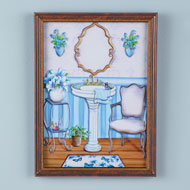 Old-Fashioned Butterfly Bathroom Wall Art - 47203