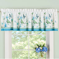 Blue Butterfly Blossoms Window Valance - 47218